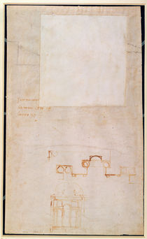 Architectural Study with Notes von Michelangelo Buonarroti