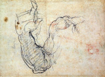 Preparatory Study for the Arm of Christ in the Last Judgement by Michelangelo Buonarroti