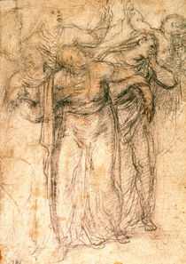 Study of Mourning Women by Michelangelo Buonarroti