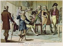 Le Cafe des Incroyables, 1797 by French School
