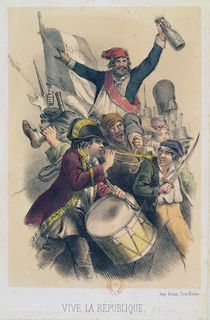 Vive la Republique, 1848 by French School