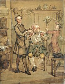 The Barber, c.1760-69 von Marcellus the Younger Laroon