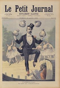 Georges Clemenceau juggling bags of English money von Henri Meyer