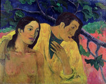 The Flight or Tahitian Idyll von Paul Gauguin