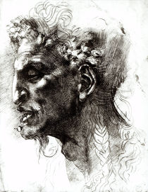 Head of a Satyr by Michelangelo Buonarroti