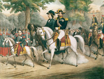 The Imperial Family on Horseback by French School