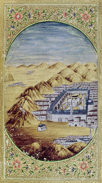 Mecca surrounded by the Mountains of Arafa by Islamic School