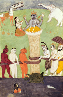 Churning of the Sea of Milk by Indian School