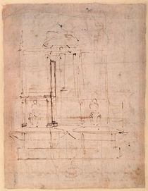Design for the tomb of Pope Julius II by Michelangelo Buonarroti