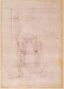 Preparatory drawing for the tomb of Pope Julius II von Michelangelo Buonarroti