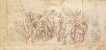 Study of figures for a narrative scene by Michelangelo Buonarroti