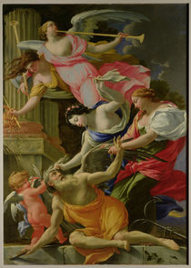 Time Vanquished by Love, Venus and Hope by Simon Vouet