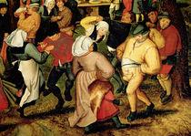 Rustic Wedding, detail of people dancing von Pieter Brueghel the Younger