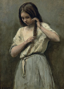Young Girl at her Toilet von Jean Baptiste Camille Corot