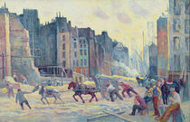 Work in the Rue Reaumur, 1906-08 by Maximilien Luce