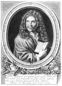 Portrait of Moliere by Nicolas Habert
