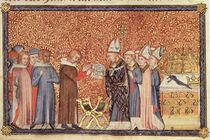 Ms Cotton Tib B VIII f.47 Coronation Scene by English School