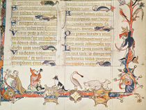 Illustration from a psalter von English School