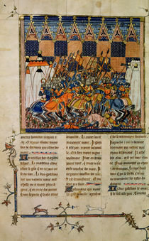 Ms Fr. 352 fol. 49v Battle scene by French School