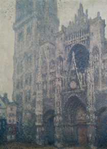 Rouen Cathedral, West Portal by Claude Monet