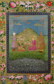 Ms E-14 Humayun and Akbar with a vizier by Indian School