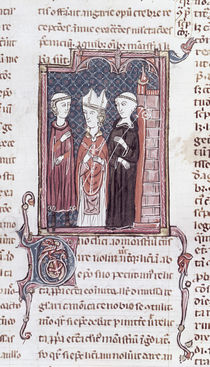 Ms 373 fol.51v A Monk, a Bishop and an Abbot von French School
