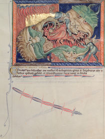 Ms L.A. 139-Lisboa fol.71 The jaws of Hell swallowing the red dragon von English School