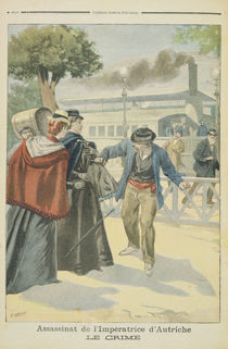 'The Crime', the Assassination of Elizabeth Empress of Austria by Fortune Louis Meaulle
