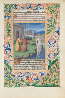 Ms Lat. Q.v.I.126 f.44 Susannah and the Elders by Jean Colombe