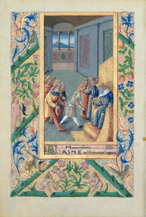 Ms Lat. Q.v.I.126 f.53v David being sent to Saul von Jean Colombe