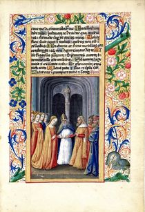 Ms Lat. Q.v.I.126 f.55 The marriage of Michal to David von Jean Colombe