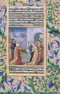 Ms Lat. Q.v.I.126 f.57 King David coveting Bathsheba by Jean Colombe