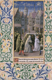 Ms Lat. Q.v.I.126 f.79v Burial procession by Jean Colombe