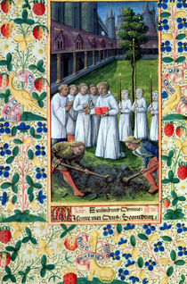 Ms Lat. Q.v.I.126 f.80v A burial von Jean Colombe