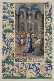 Ms Lat. Q.v.I.126 f.86v Pentecost von Jean Colombe