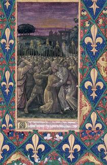 Ms Lat. Q.v.I.126 f.100 The Kiss of Judas von Jean Colombe