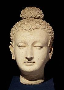 Head of a Buddha, Greco-Buddhist style von Afghan School