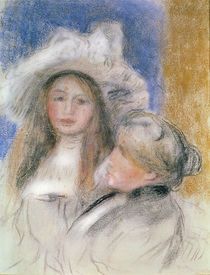 Berthe Morisot and her Daughter Julie Manet von Pierre-Auguste Renoir