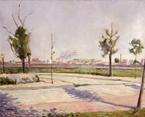 The Road to Gennevilliers, 1883 by Paul Signac