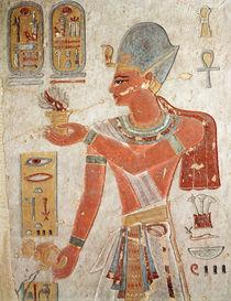 Ramesses III in battle dress by Egyptian 20th Dynasty