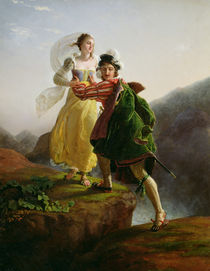 Bianca Cappello Fleeing with her lover Francesco de Medici von Louis Ducis