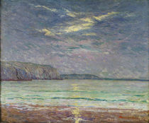 Cliffs with Setting Sun by Maxime Emile Louis Maufra