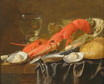 Still life with lobster, shrimp von Christiaan Luykx or Luycks