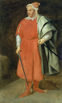 Portrait of the Buffoon 'Redbeard' von Diego Rodriguez de Silva y Velazquez
