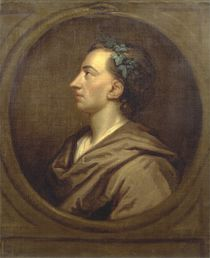 Alexander Pope Profile, Crowned with Ivy by Godfrey Kneller