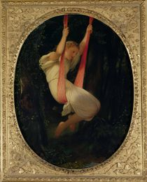 Young Girl on a Swing, 1845 by Hippolyte Delaroche