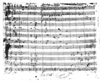 Ms.1548 Overture of the opera 'Don Giovanni' by Wolfgang Amadeus Mozart