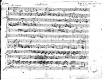 Ms.225 Sonate Premiere for violin and harpsichord in C major 1782 by Wolfgang Amadeus Mozart