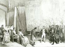 Napoleon I Visiting the Studio of David von Emile Lassalle
