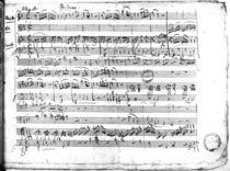 Ms.222 fol.6 Trio, in E flat major 'Kegelstatt' for piano by Wolfgang Amadeus Mozart